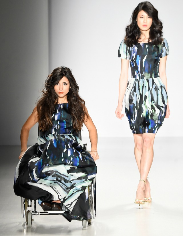 Fashion week models with disabilities