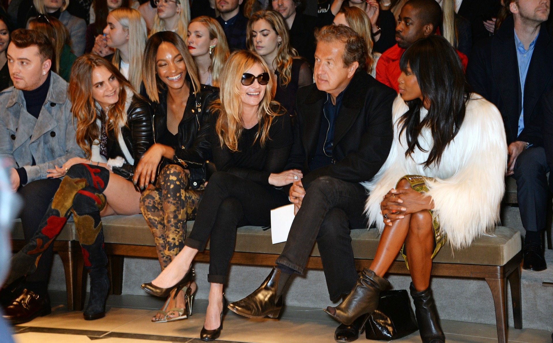 Naomi Campbell at London Fashion Week AW15