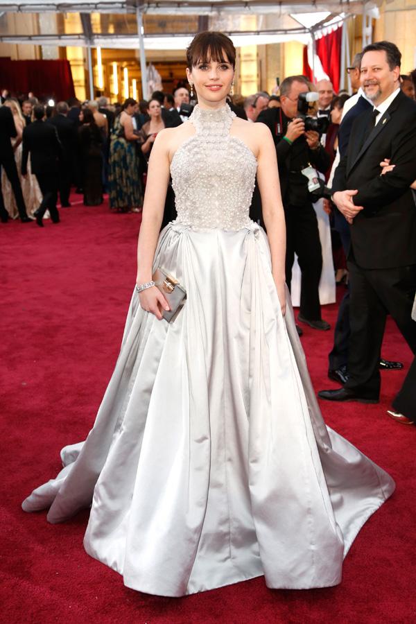 Felicity Jones at the 201 Oscars