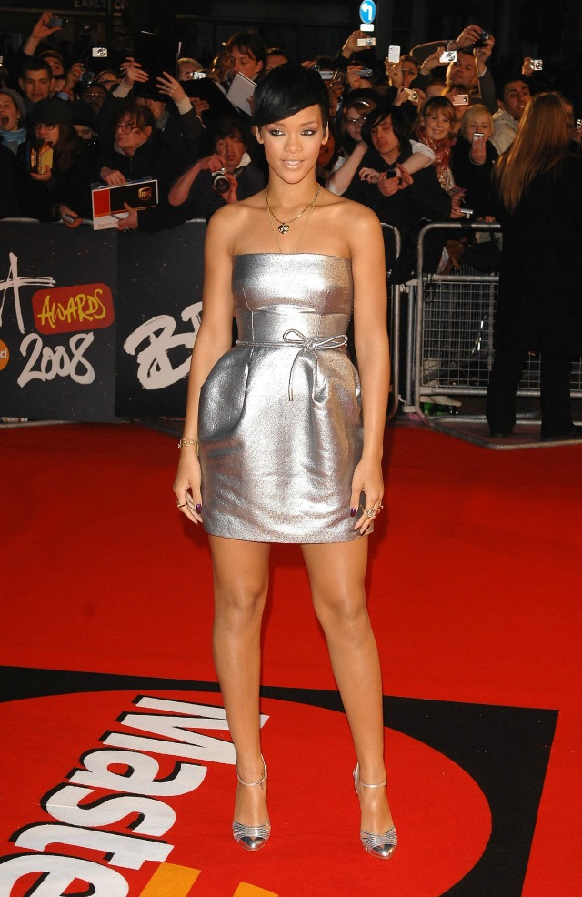 Rihanna at the 2008 BRITS