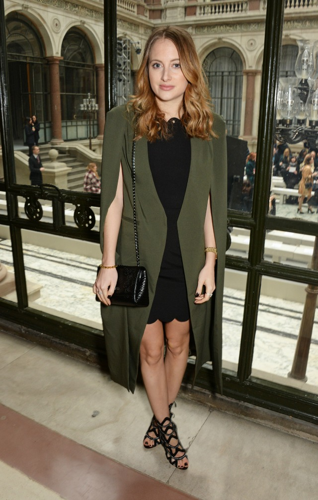 Rosie Fortescue at London Fashion Week AW15