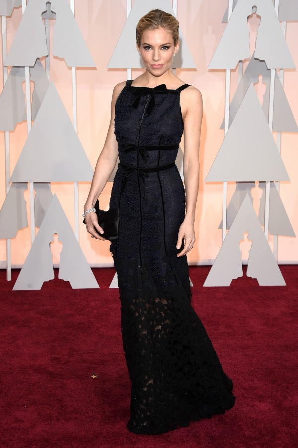 Sienna Miller at the 2015 Oscars
