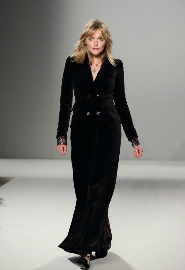 Sophie Dahl on the catwalk for Temperley London at London Fashion Week AW15