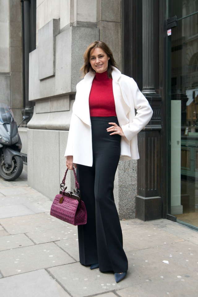 Yasmin Le Bon at London Fashion Week AW15