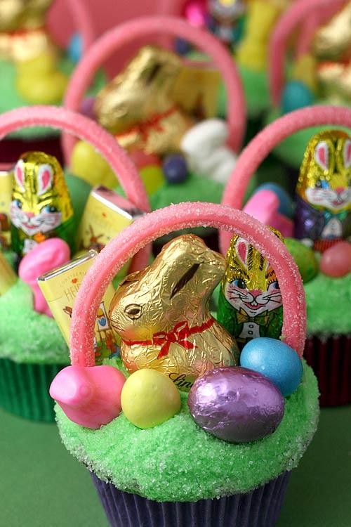 Easy Easter Basket Cakes