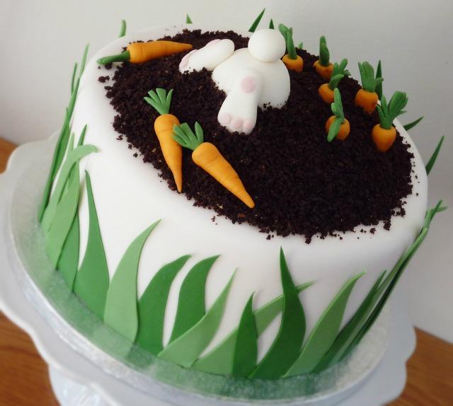 Rabbit Shaped Carrot Cake