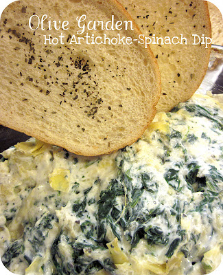 15 copycat appetizer recipes for making your favorite - Spinach artichoke dip olive garden ...