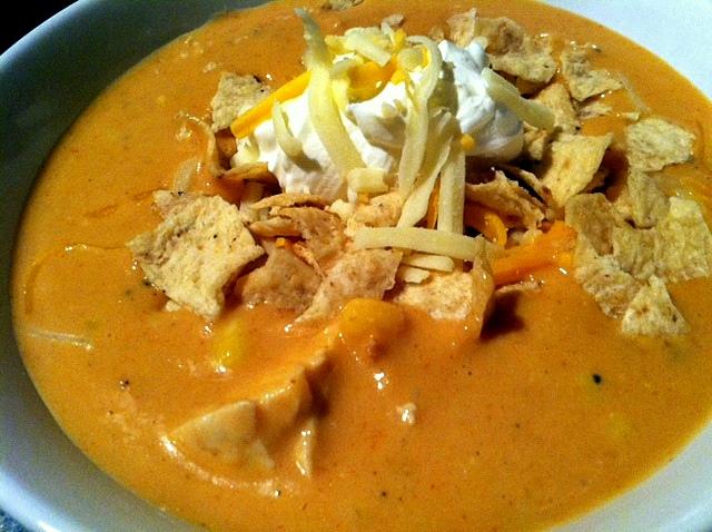 Chili's chicken enchilada soup slow cooker recipe