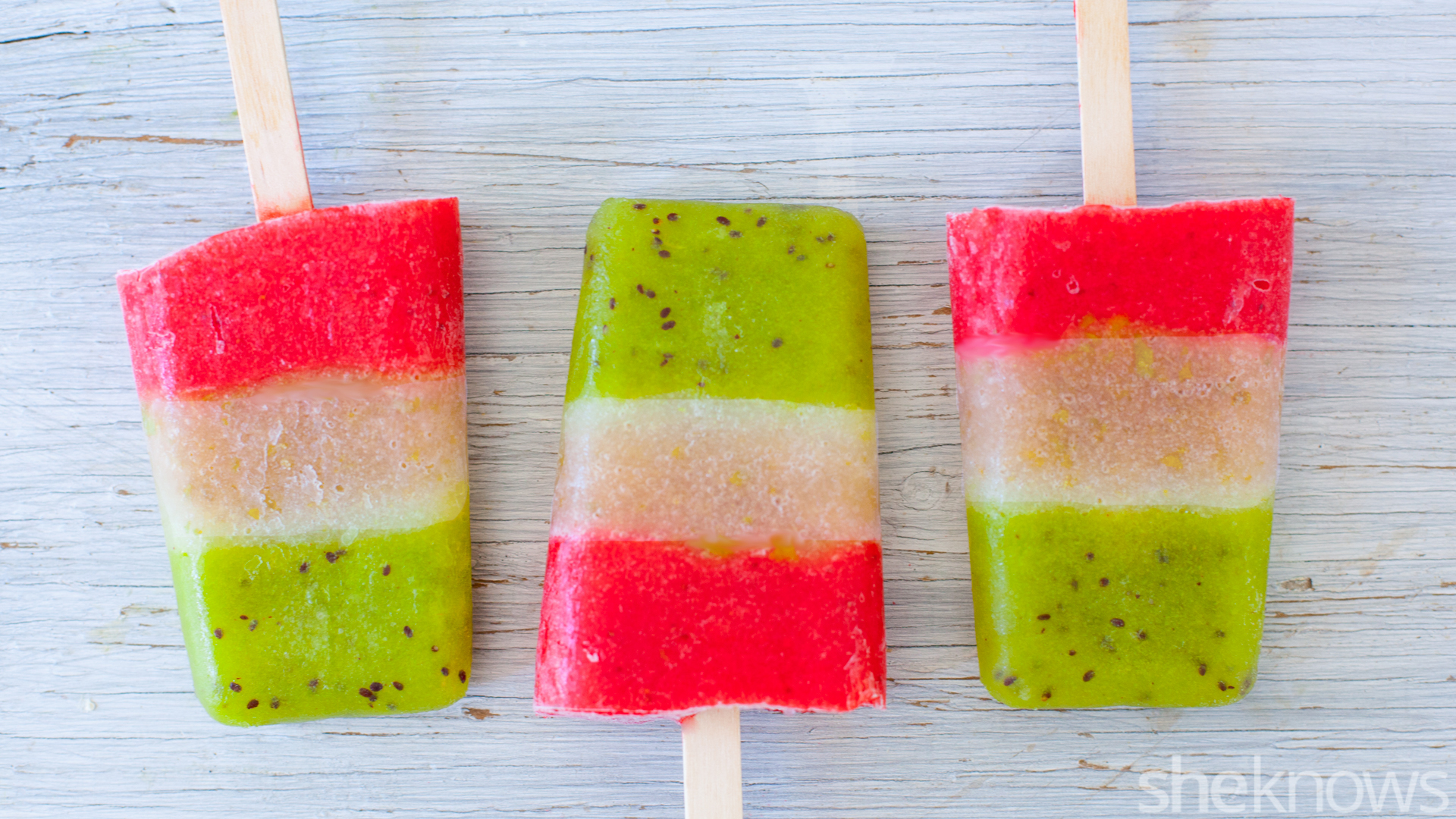 These triple-layer margarita ice pops make a tasty adults-only treat