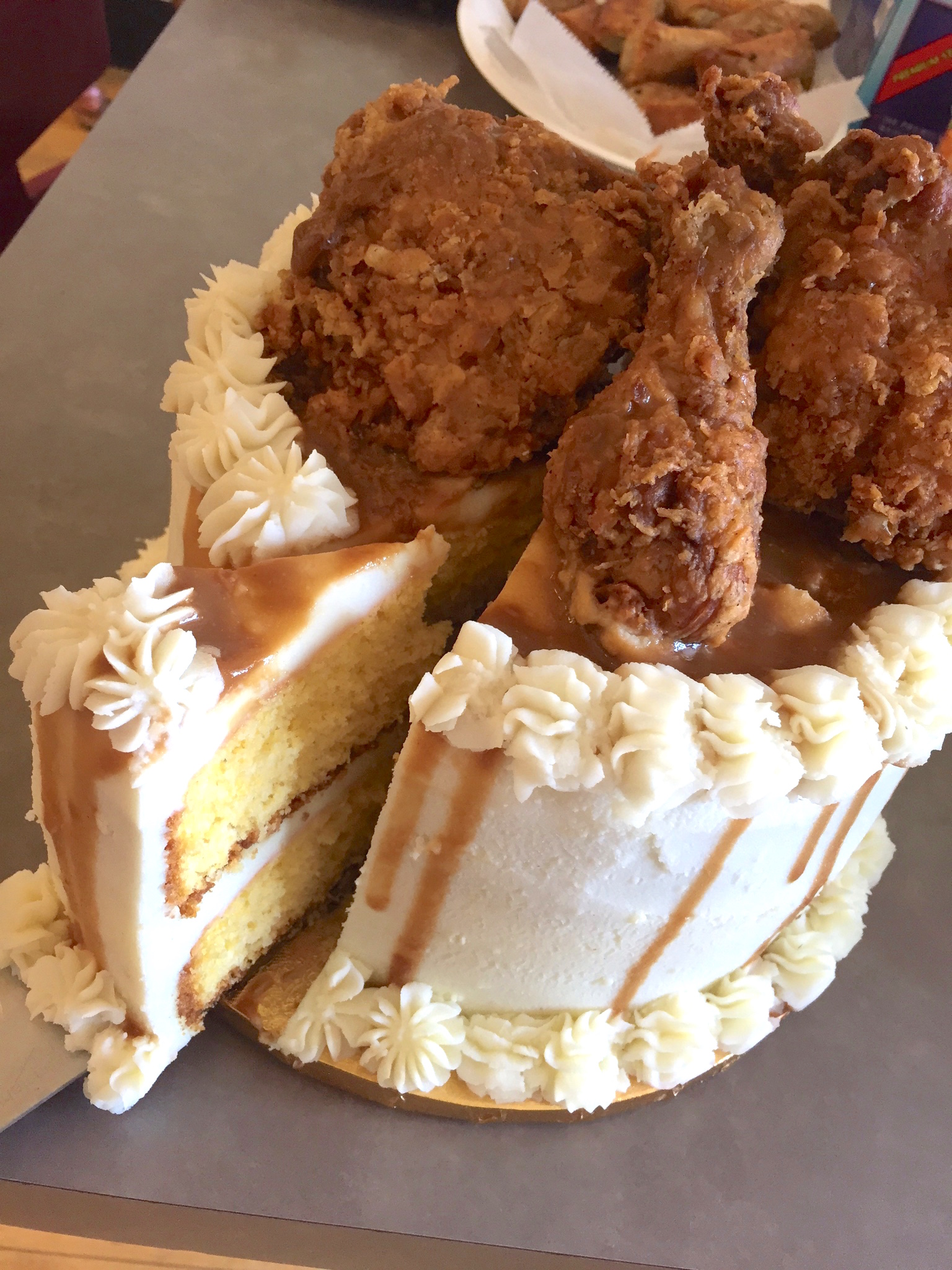 This fried chicken-mashed potato cake is a dinner dream ...
