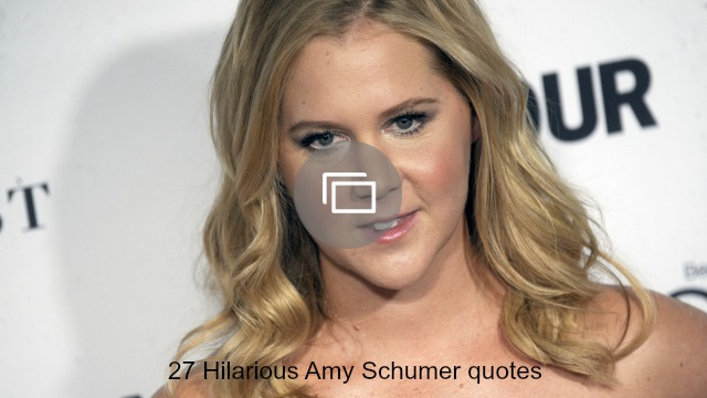 Amy Schumer talks about her boyfriend's semen and then his parents — in that order