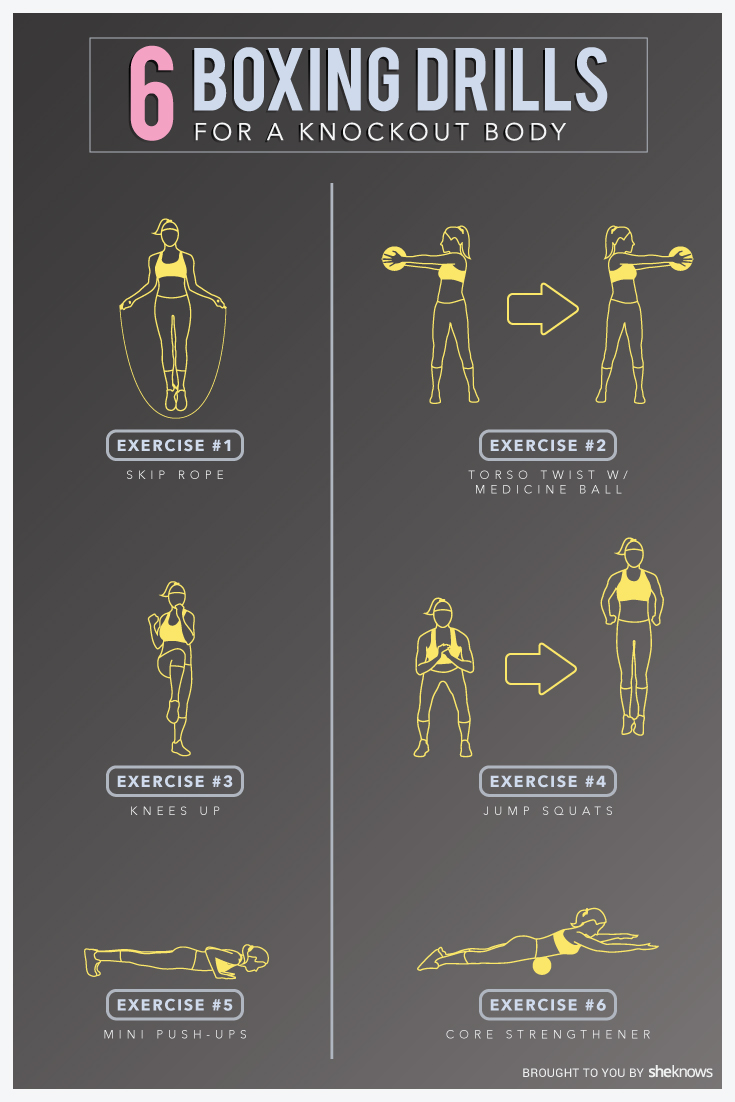 Get fit with boxing drills