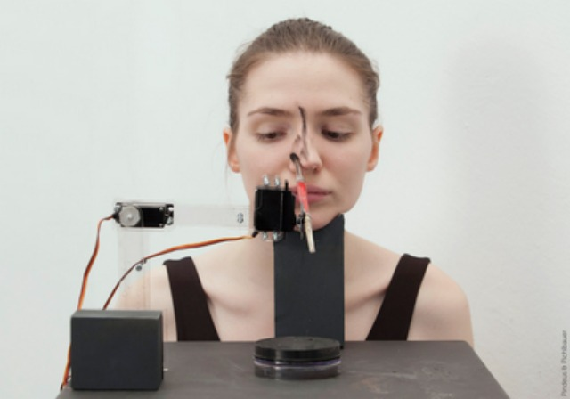 Robot applying makeup for Beautification