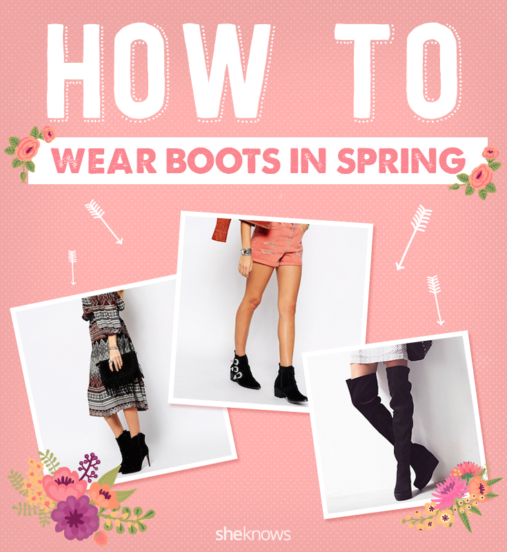 Wearing boots in spring