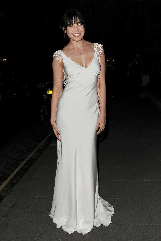 Daisy Lowe at Jo Malone Ball in bridal evening dress