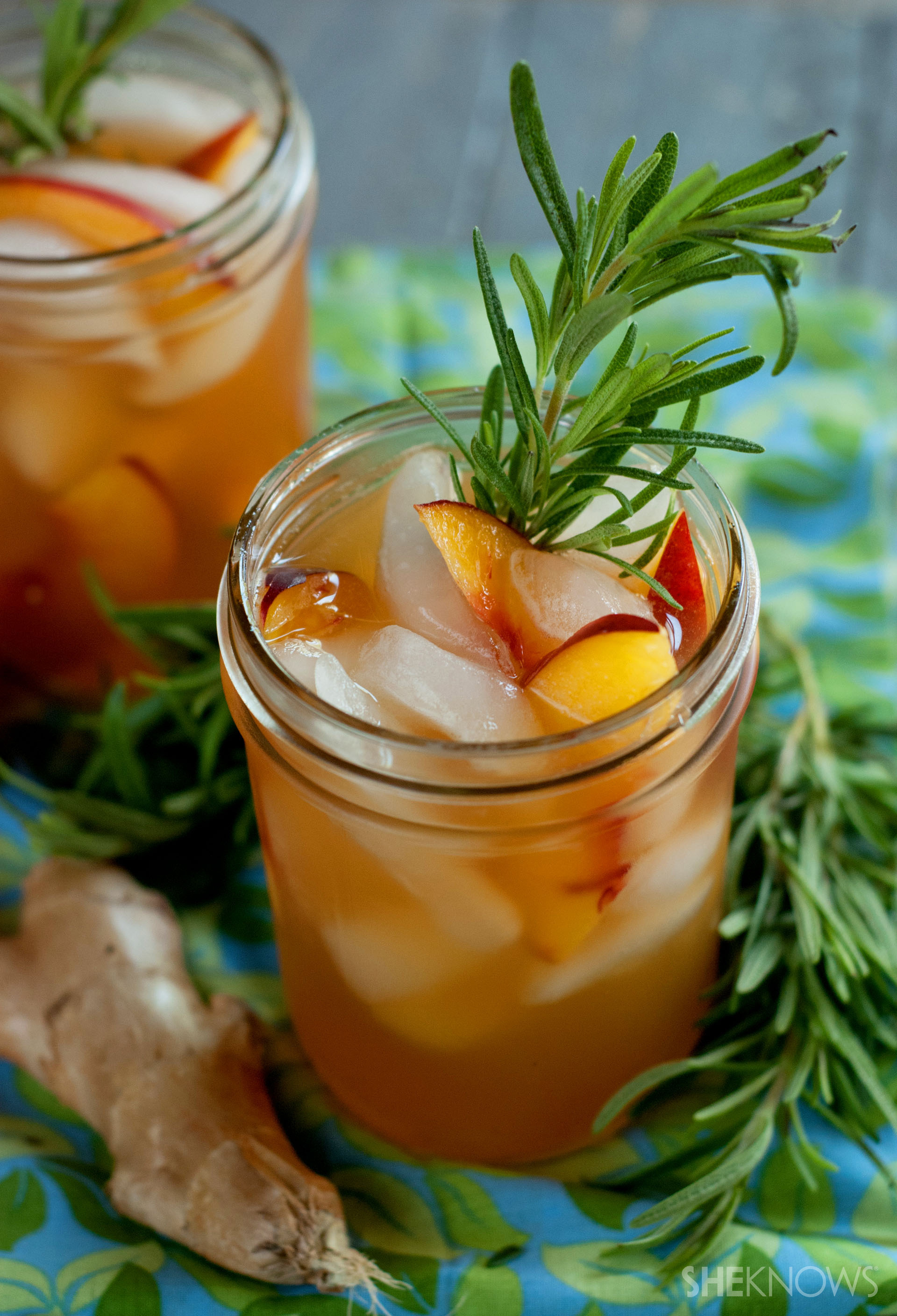 Serve up some sweet and spicy peach green tea for a beverage that's ...