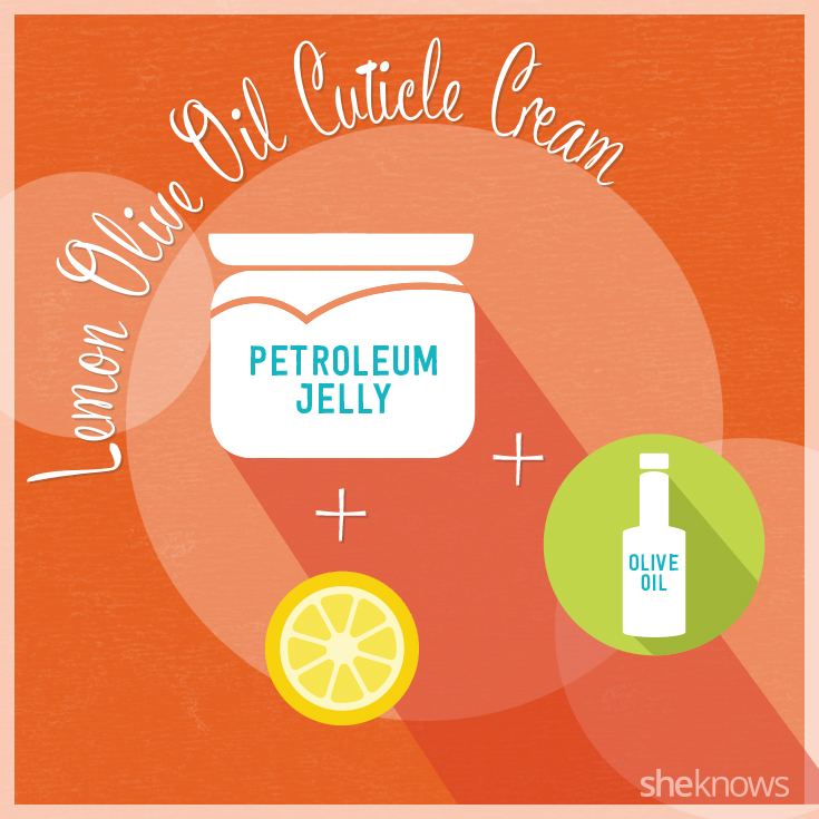 Lemon Olive Oil Cuticle Cream, from YouTuber CookingandCrafting