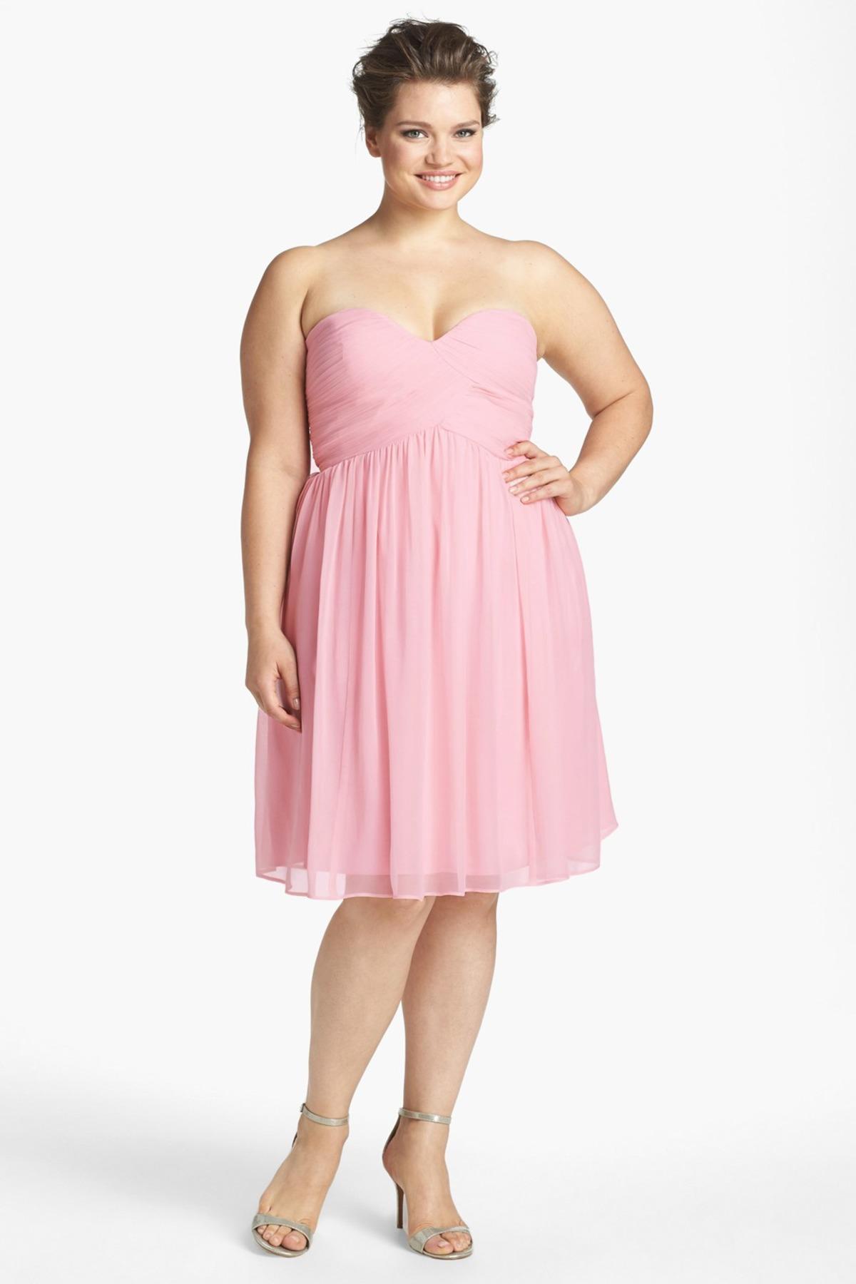 Chiffon strapless dress