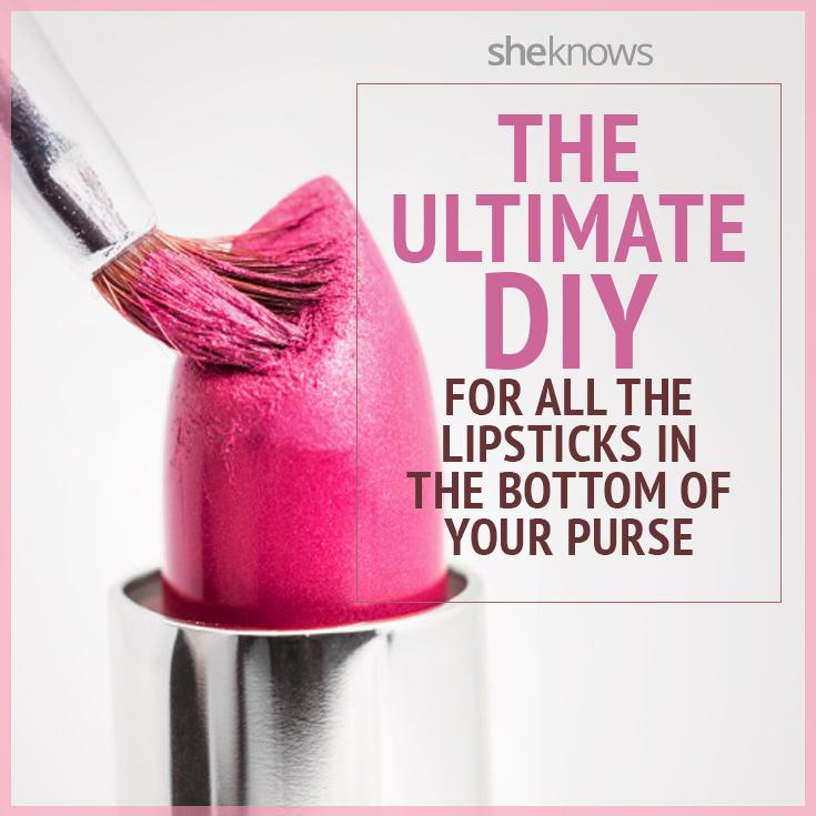 Lipstick DIY to combine lip shades in one case