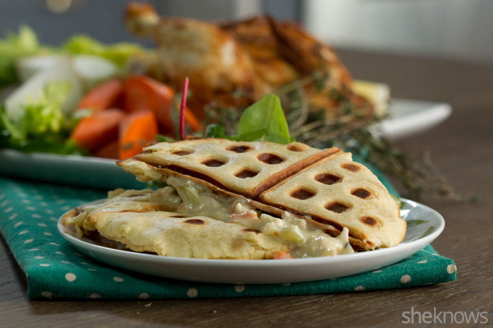 Waffled Chicken Pot Pie