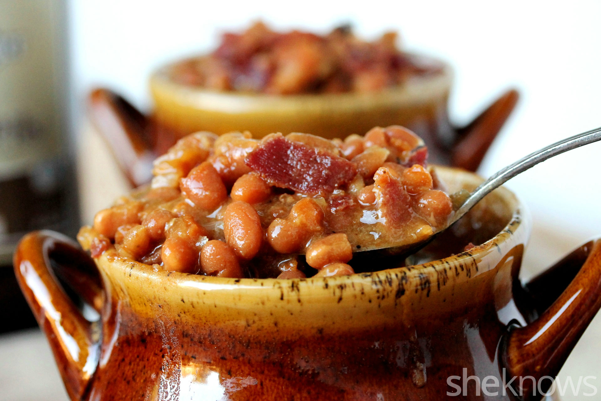 These slow-cooked baked beans are made with two types of mustard ...