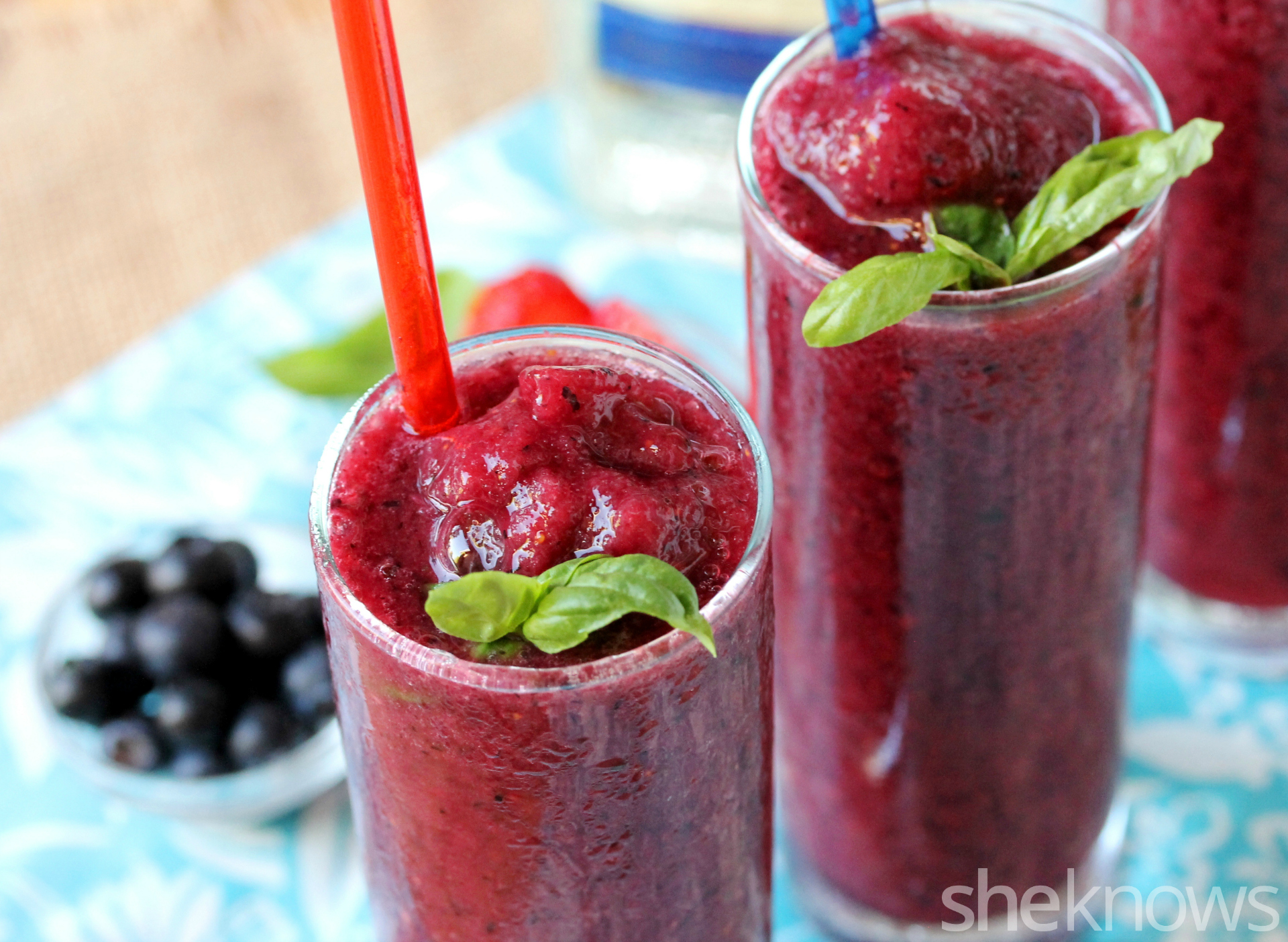 blend of strawberries, blueberries and blackberries gives this slushie ...