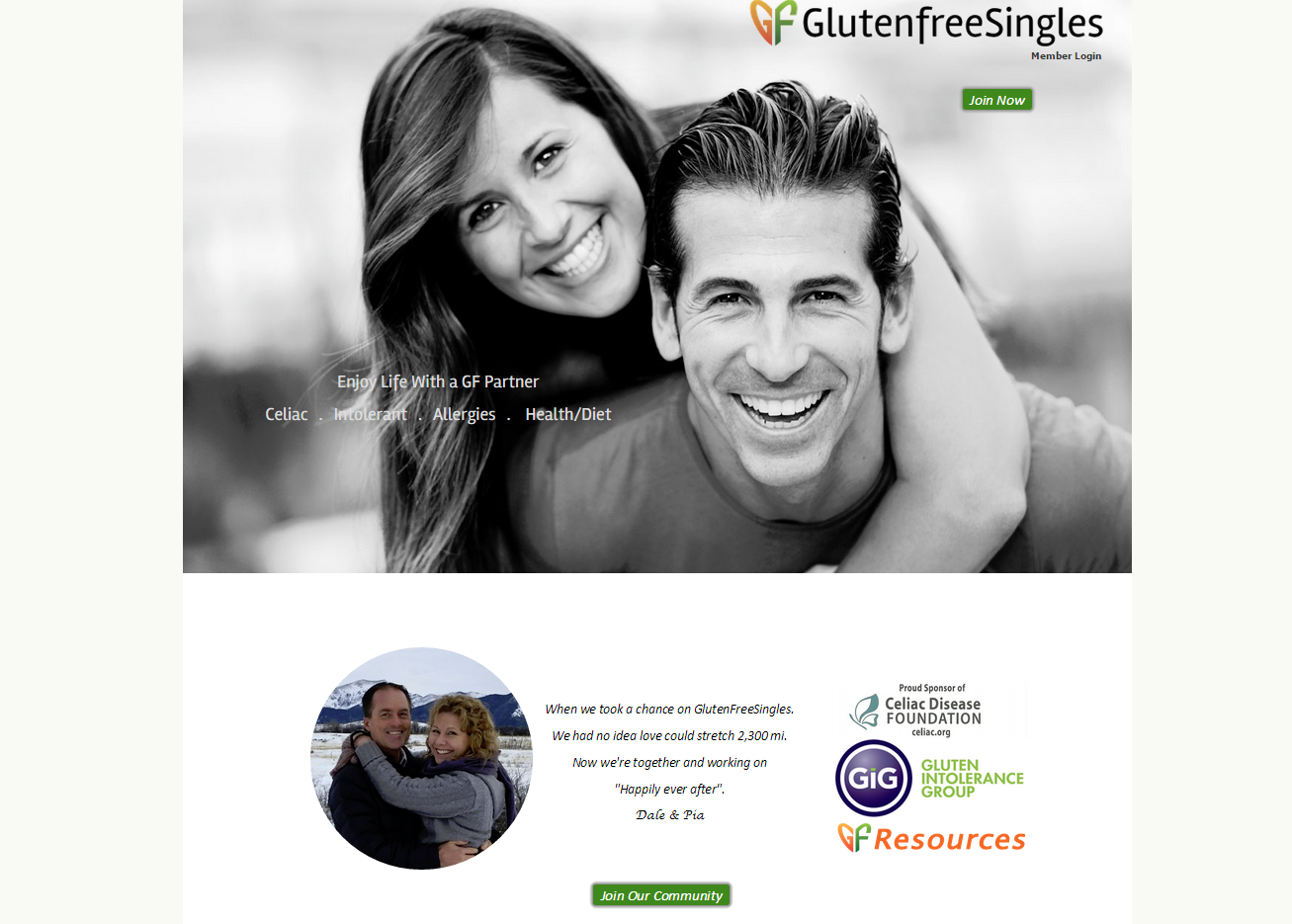 Gluten free dating site