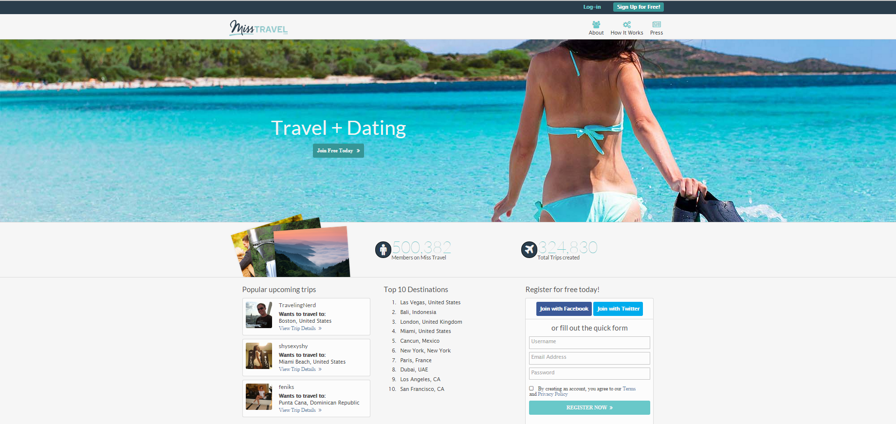 Miss travel dating