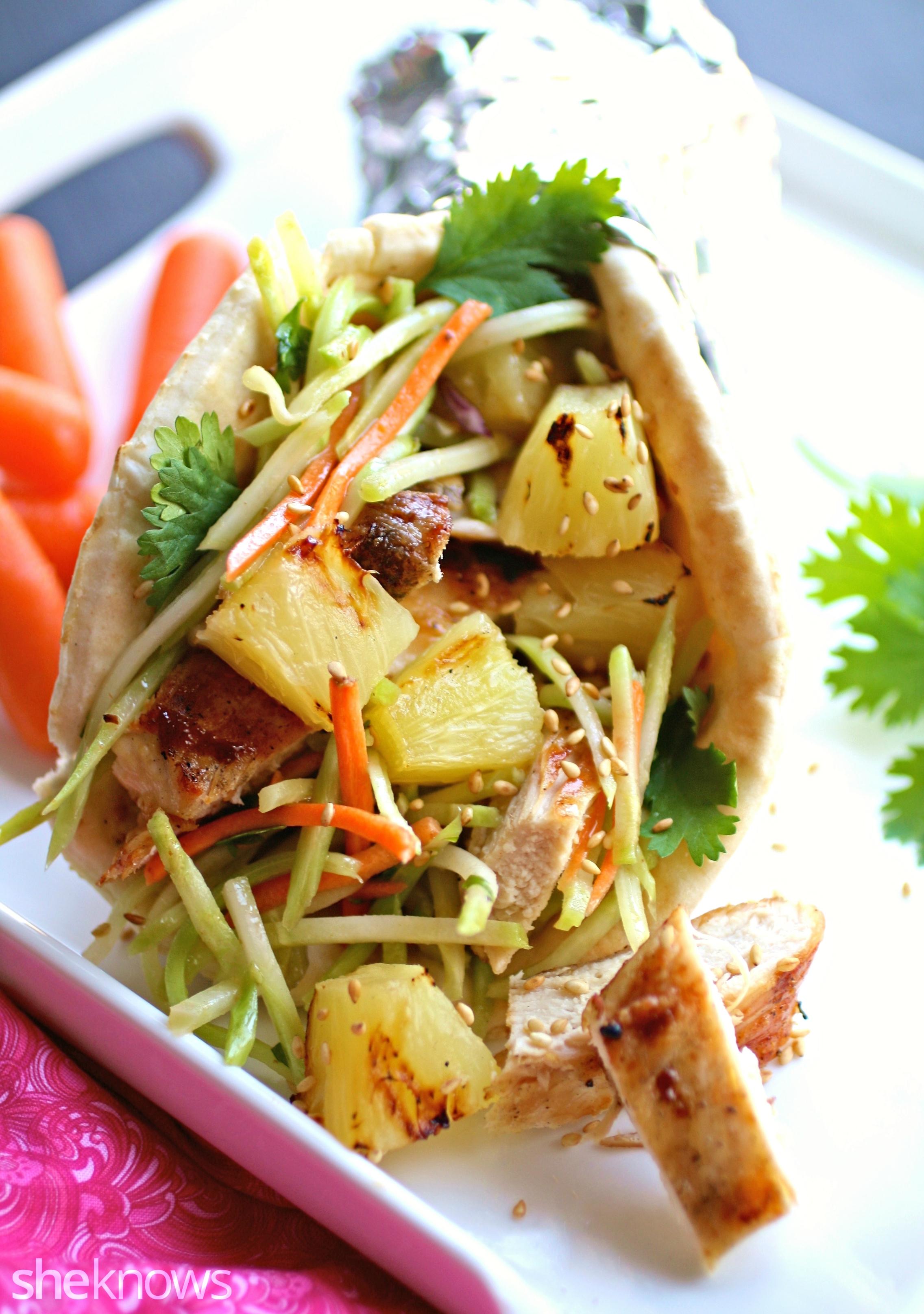 Grilled Chicken And Broccoli Slaw Wraps Recipe — Dishmaps