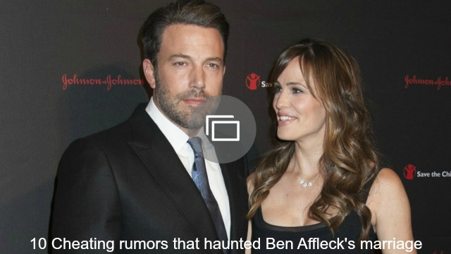 Ben Affleck cheating slideshow