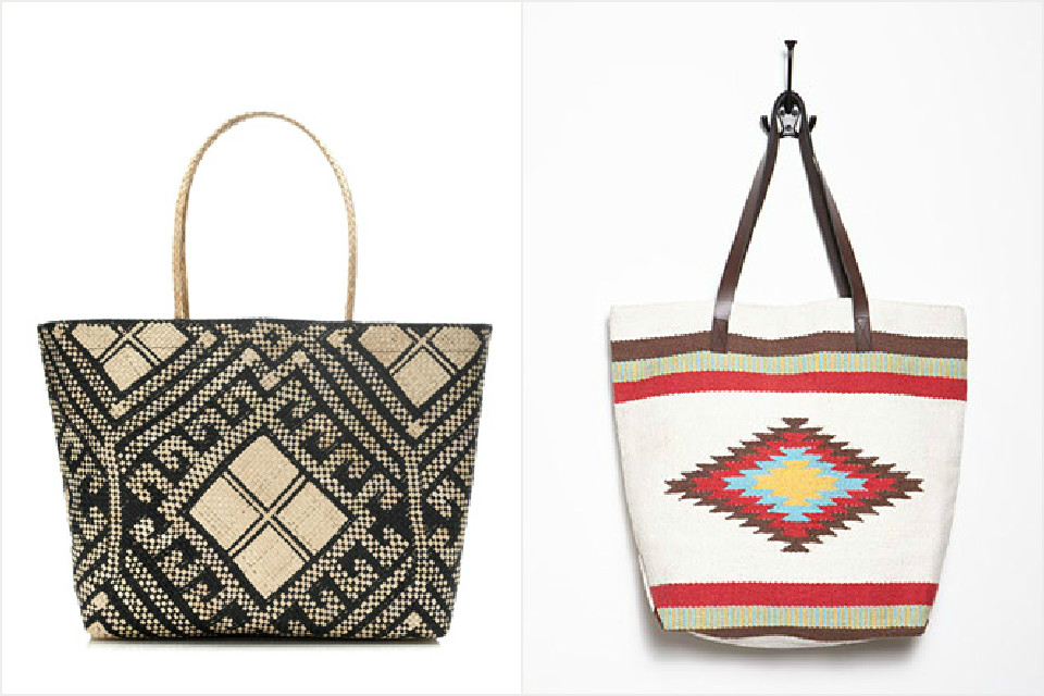 """funky """"ethnic"""" tote"""