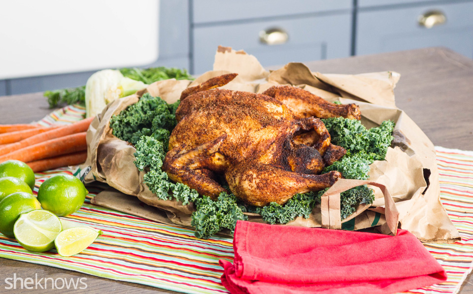 Brown paper bag chipotle-lime chicken recipe