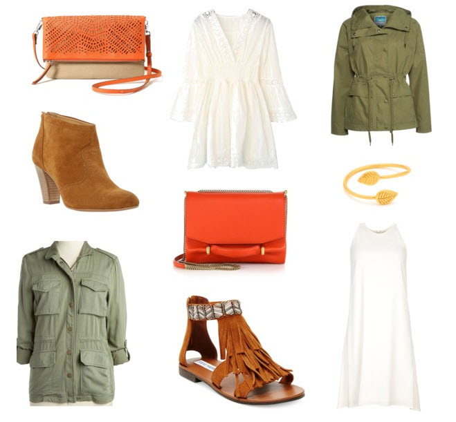 Orange purse outfit