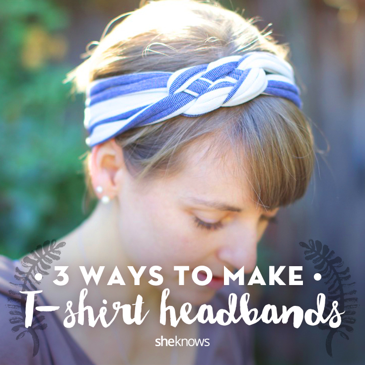 T-shirt headbands tutorials