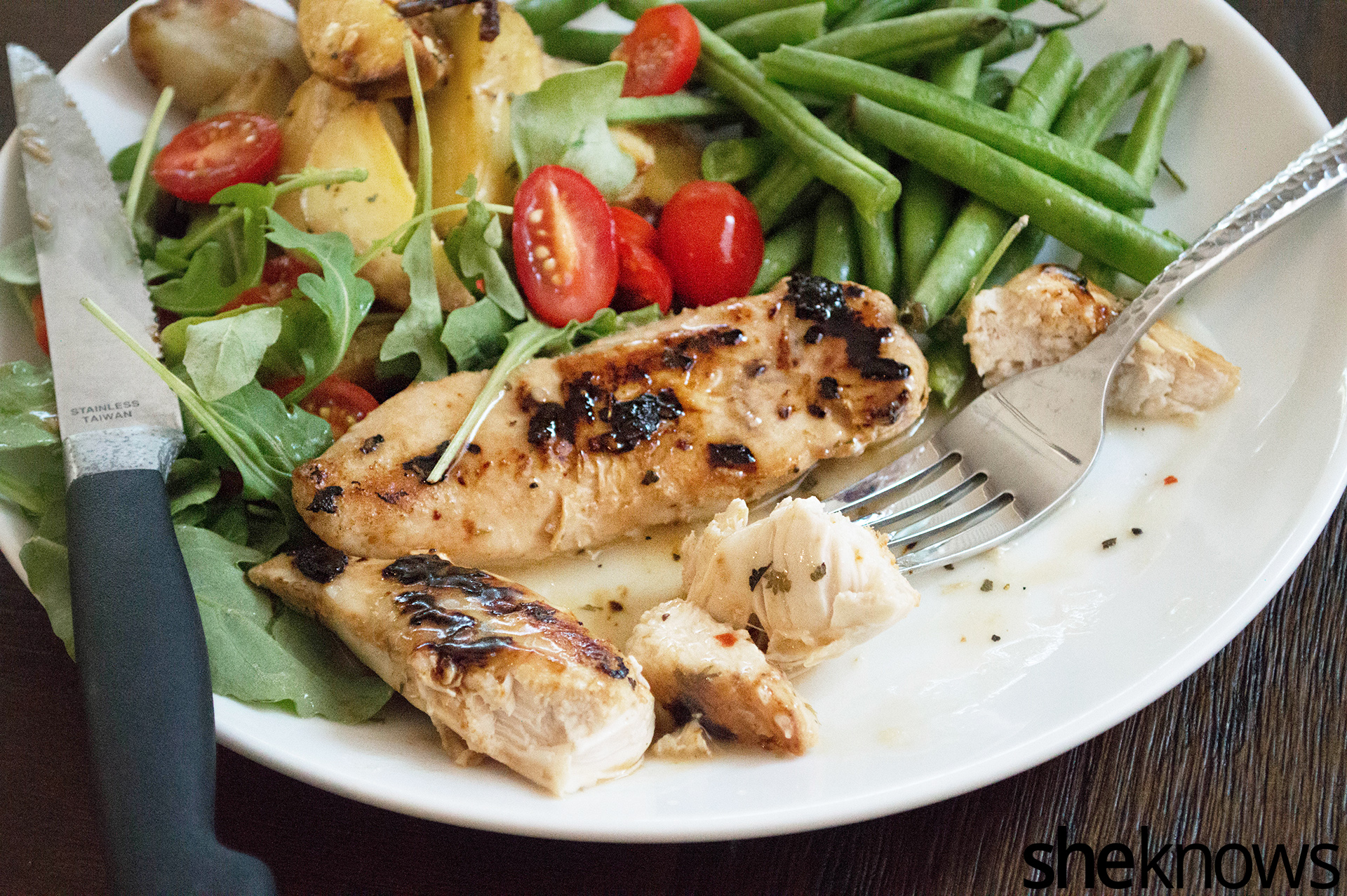 Baked chicken with white wine and citrus is an easy meal packed with ...