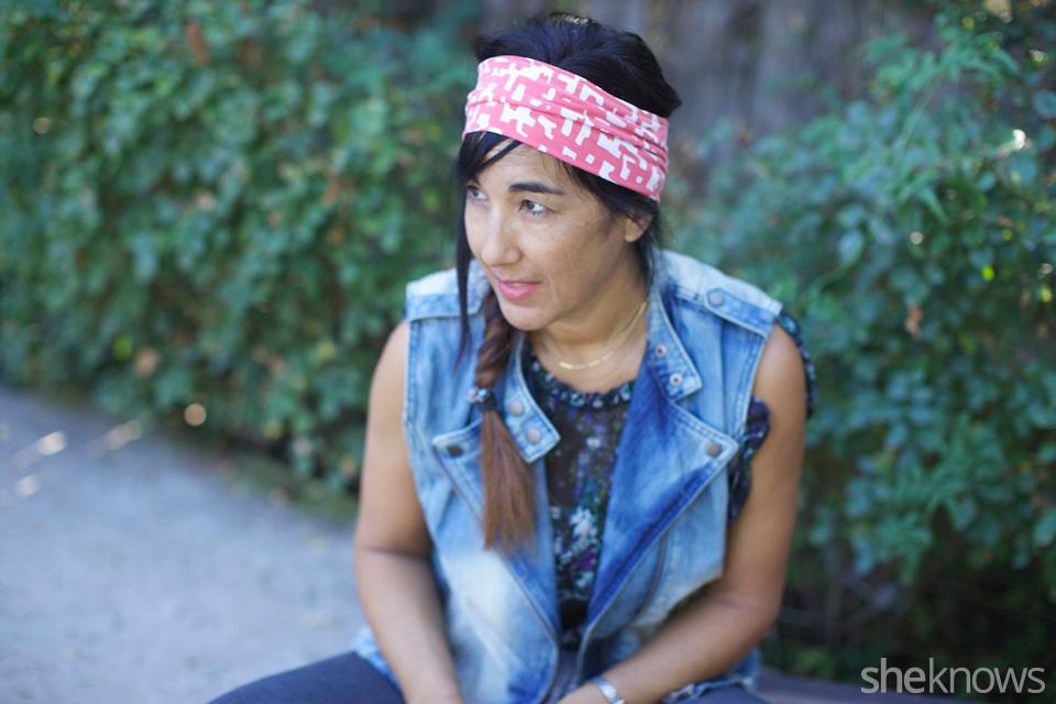 Simple DIY T-shirt headband: Step 3