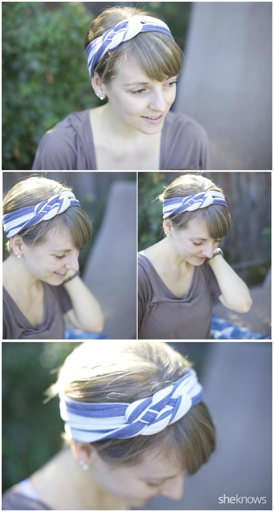 Sailor's knot T-shirt headband