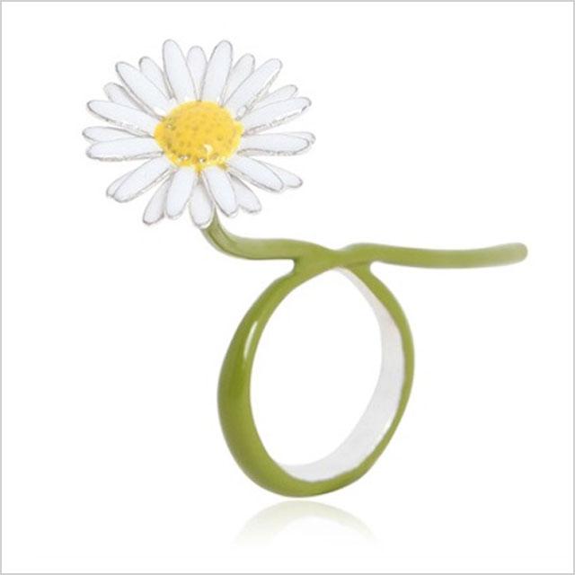 Maison Margiela Green Daisy Ring