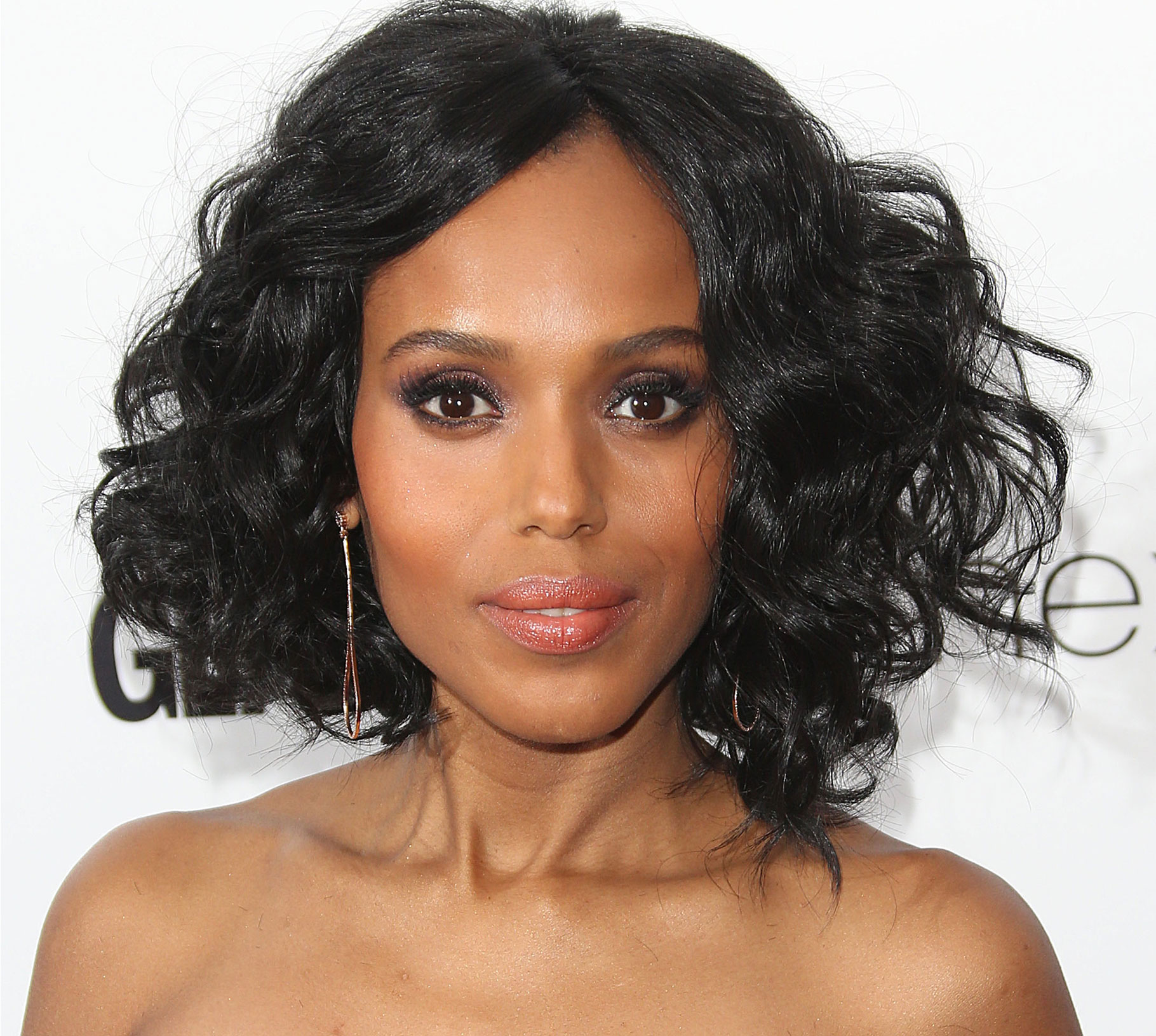 Kerry Washington with a diamond-shaped face