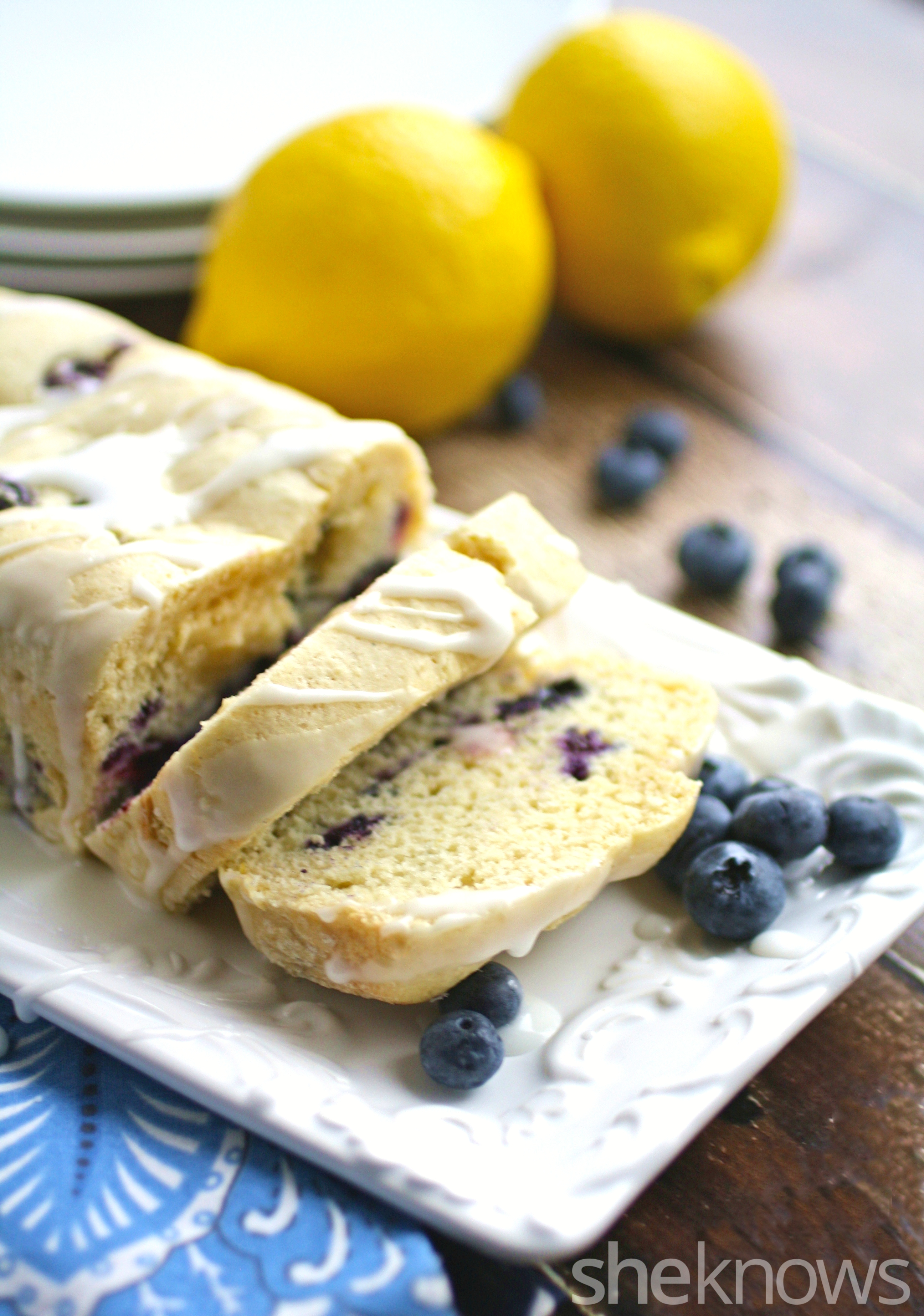 Gluten-free blueberry coffee cake with lemon glaze is a lovely treat ...