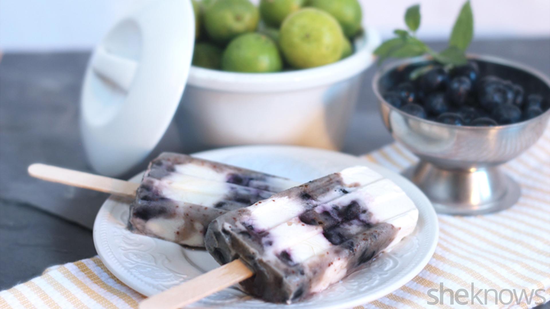 Blueberry pops - Refreshing dishes yogurt try summer ...