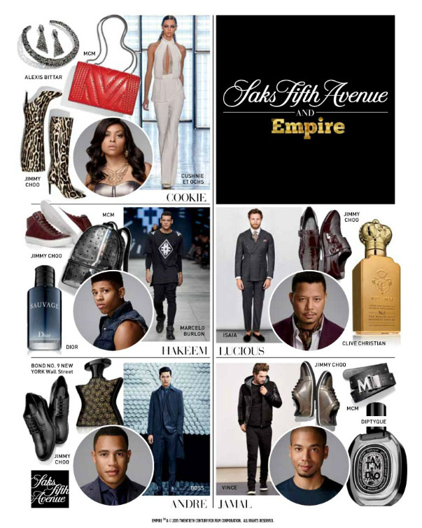 Empire Saks fashion collection