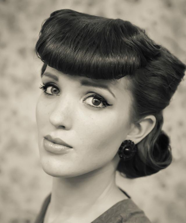 1950s Bumper bangs hair tutorial
