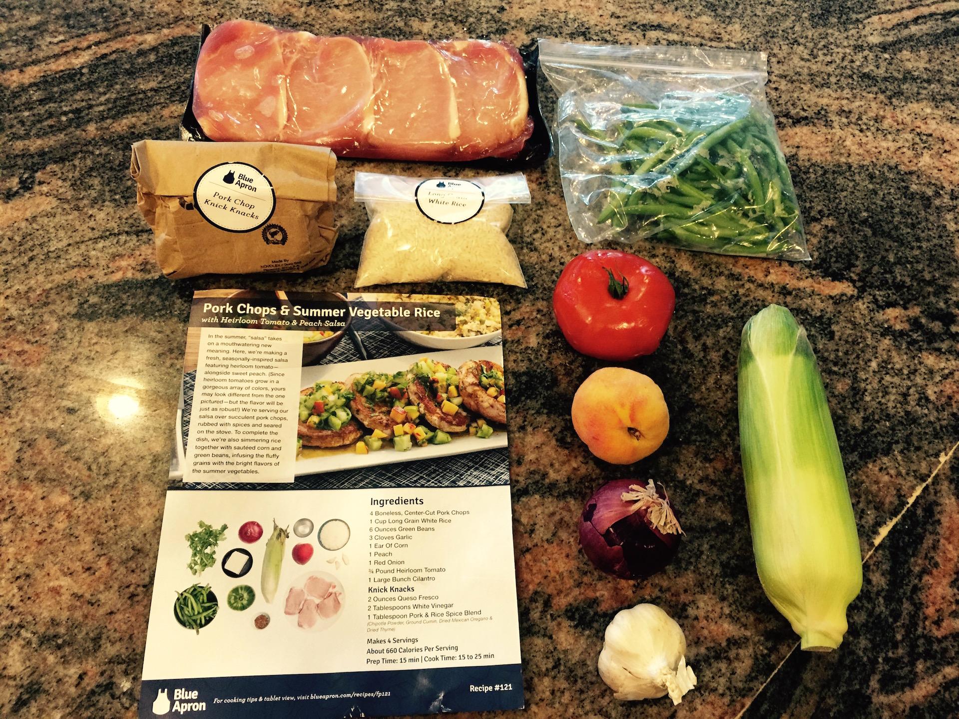 Blue apron cost -  Blue Apron Meal