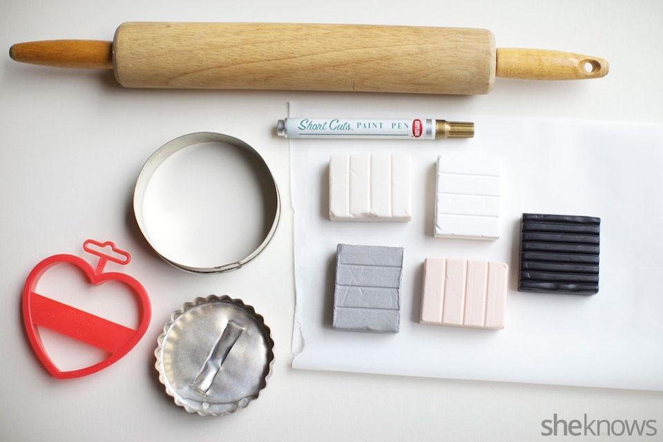 Mini DIY jewelry holders: Supplies