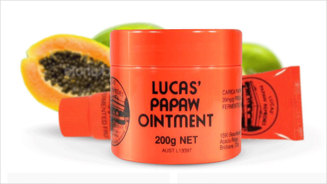 Paw paw ointment works wonders on everything from dry skin to nappy rash