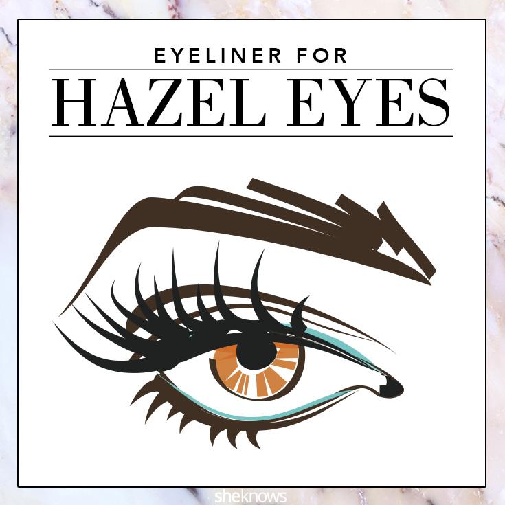 The best colored eyeliner for Hazel eyes