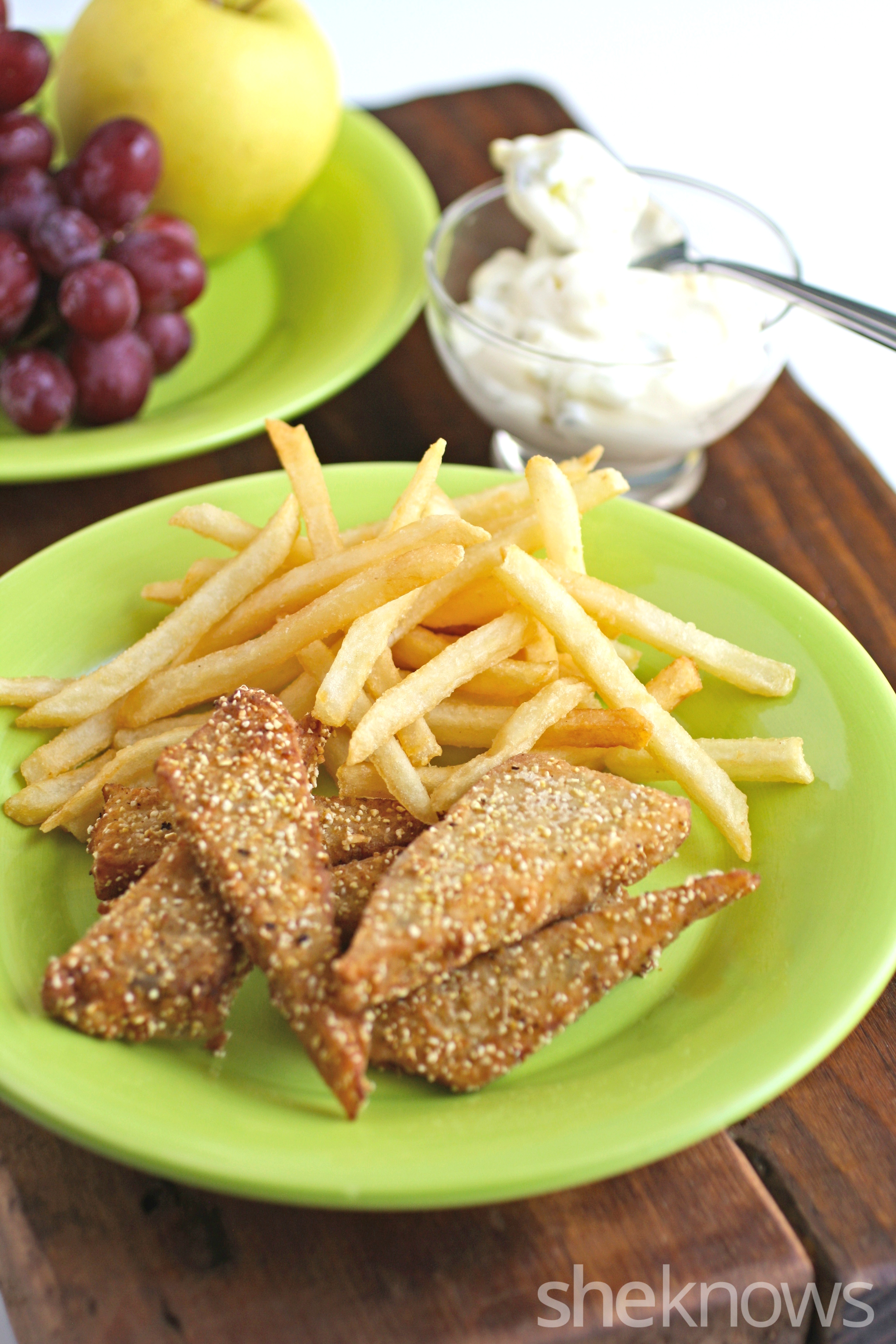 Meatless monday tempeh 39 fish 39 sticks are a vegetarian for Fish stick sauce