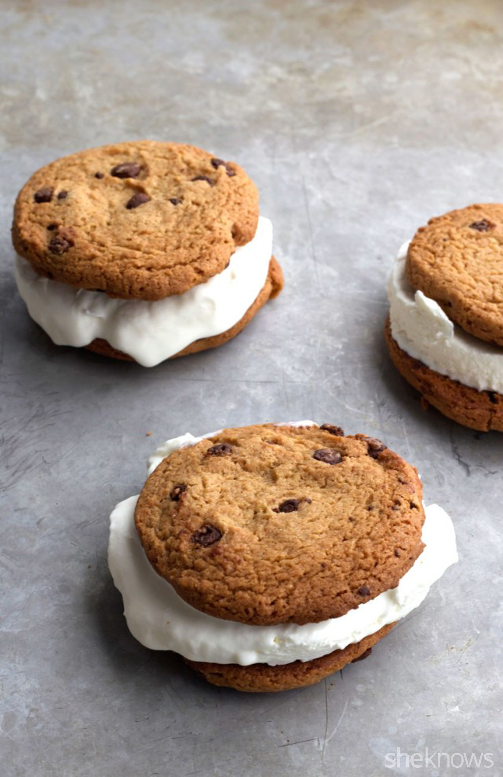 Homemade ice cream cookie sandwich easy peasy meals a tasty homemade ice cream cookie sandwich using fiber one chocolate chip cookies and a homemade soft serve ice cream ccuart Choice Image