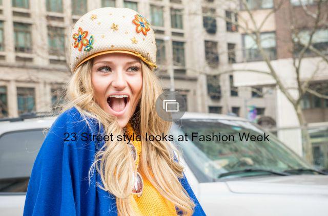 Fashion week street style slideshow